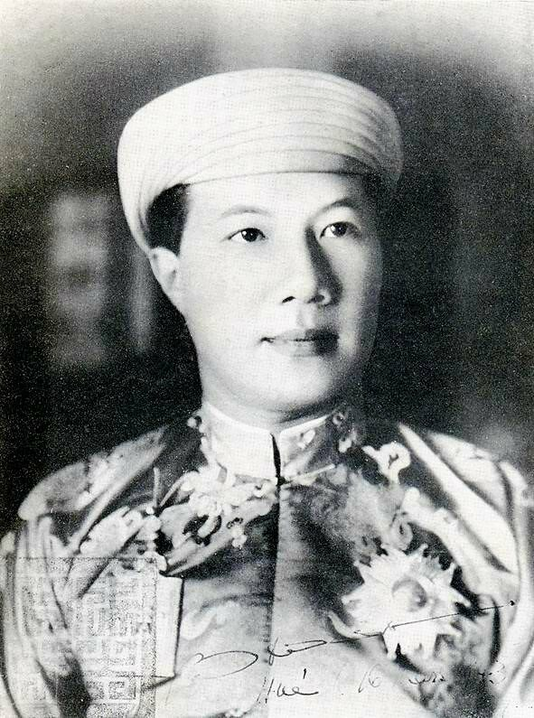 Portrait of Bao Dai (born Nguyễn Phúc Vĩnh Thụy), the last emperor of the Nguyen Dynasty.