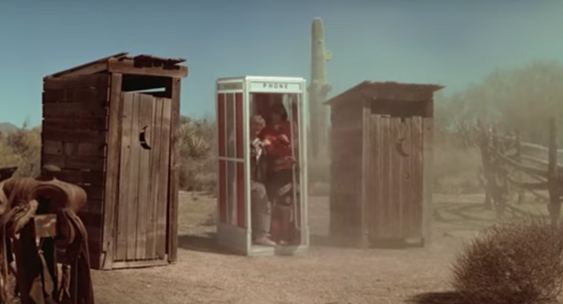 Wild West outhouses as depicted in the 1989 film \u003cem\u003eBill and Ted\u0027s Excellent & Why We Think Outhouses All Had Crescent Moons in Their Doors ... Pezcame.Com