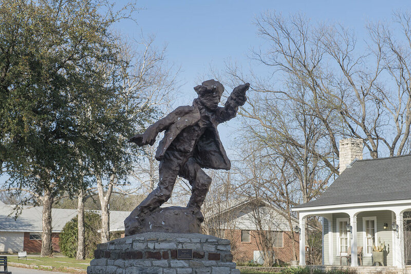 'Billy the Kid' statue in Hico, Texas.