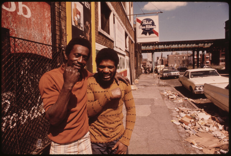 A 1974 photo taken on Chicago's South Side as part of a National Archives project called DOCUMERICA.