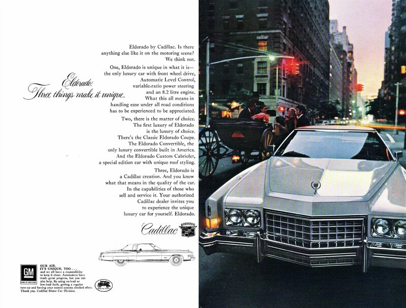 The 1973 Cadillac <em>Eldorado</em>, one of a flurry of Spanish-inspired car names of the 1970s.