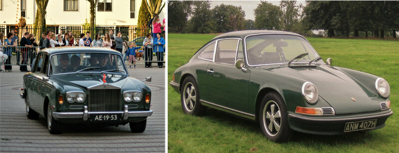 European luxury cars can go both ways: the quiet dignity of the Rolls <em>Silver Shadow</em>, or the classic call of the open road with the Porsche 911.
