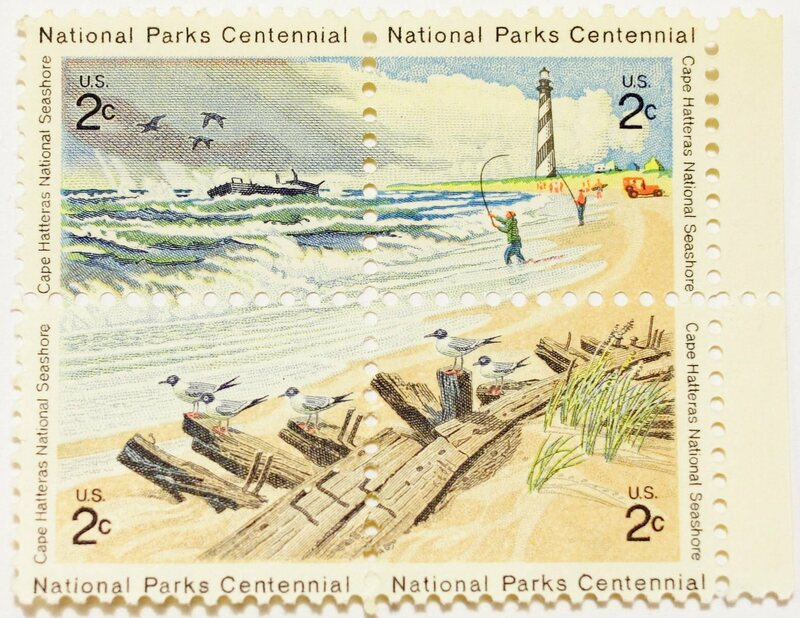 The popular Cape Hatteras stamp, which collated four separate stamps.