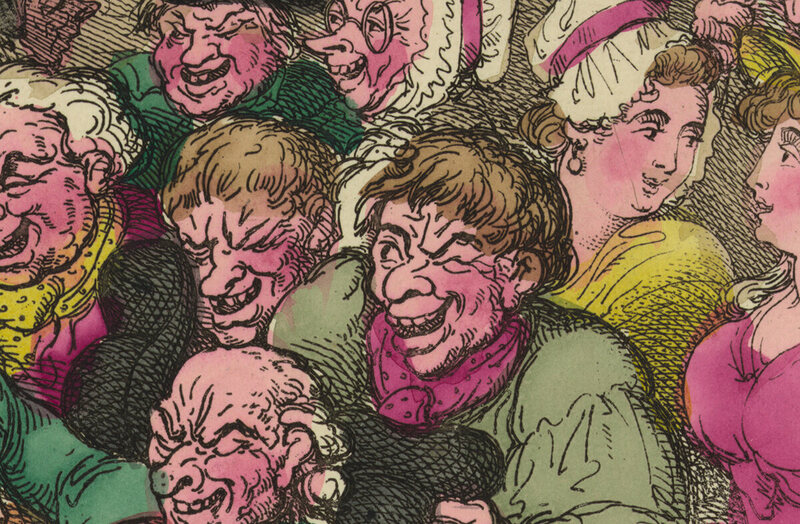 A detail from an early 19th-century cartoon by Thomas Rowlandson.