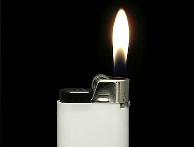 Beware the white lighter.