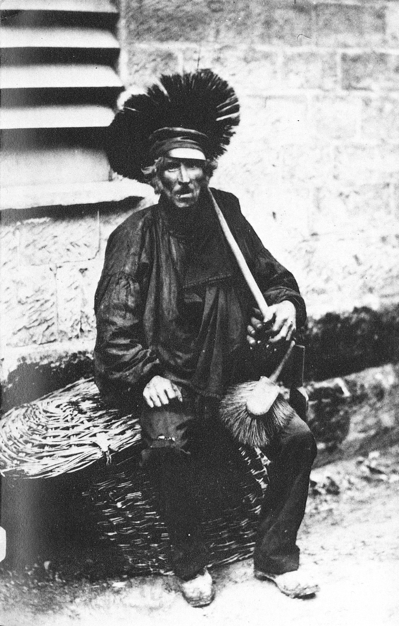 "A Victorian-era chimney sweep, the sartorial inspiration for today's ""Lucky Sweeps."""