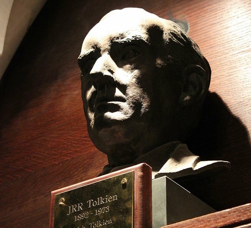 A bust of Tolkien at Oxford.