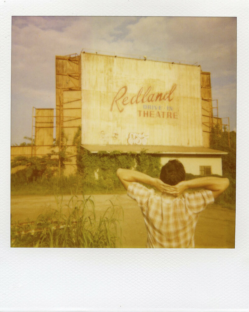 Polaroid of Redland Drive-In, Lufkin, Texas.