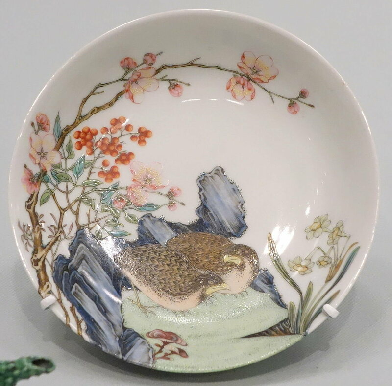 An 18th-century porcelain plate from Jingdezhen.