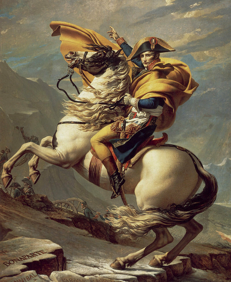 Napoleon and his steed.
