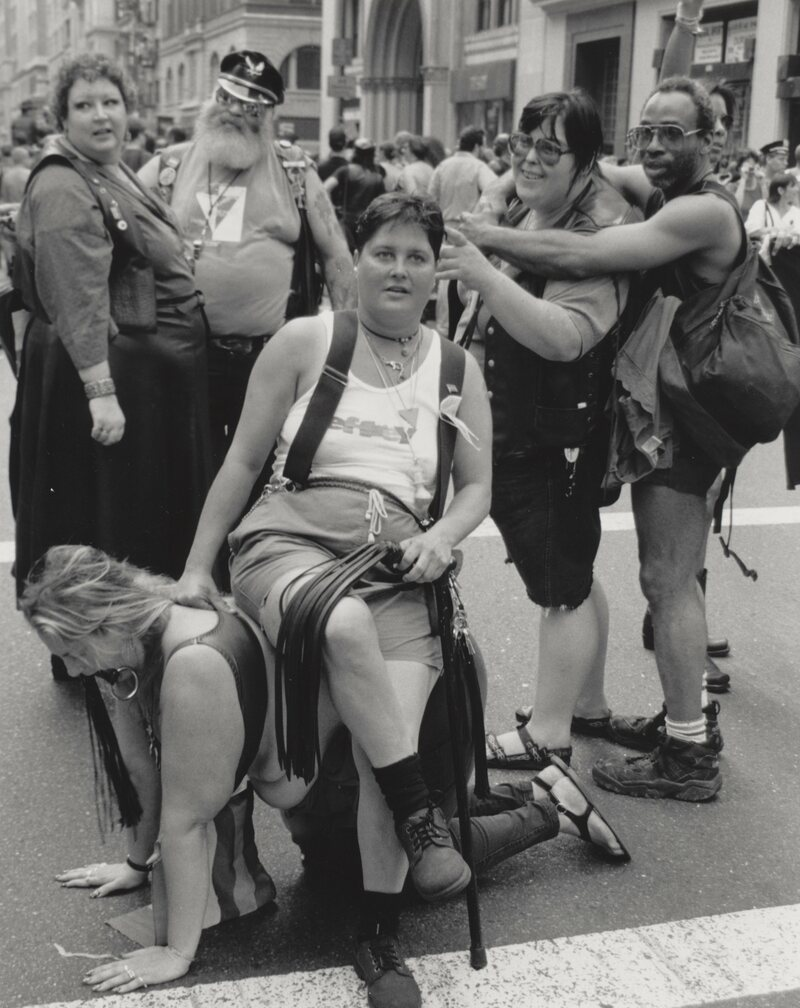 Pride March, New York, 5th Ave., late 1980s.