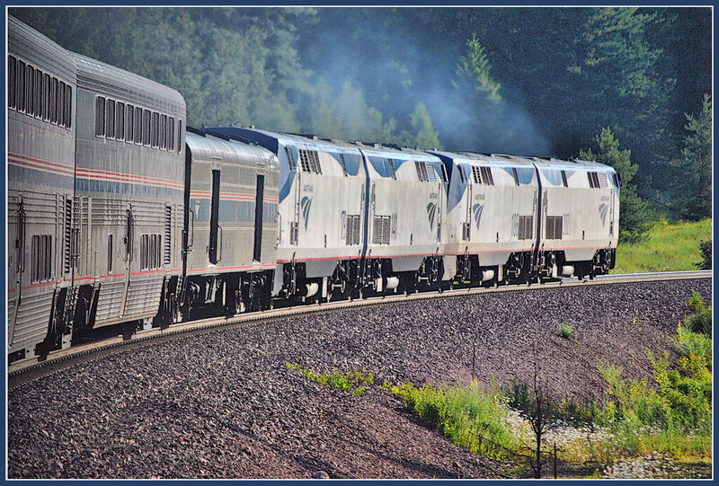 The Empire Builder in Coram, Montana.