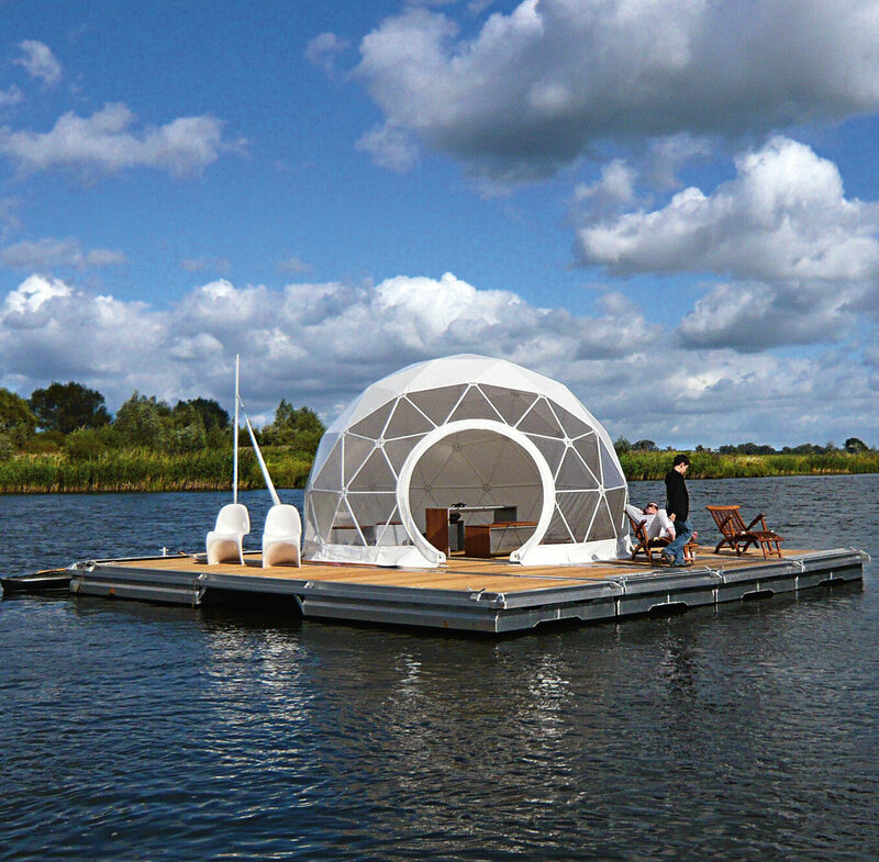 The Zendome allows campers to drift along the water in style. (Zenvision, Germany, 2007).