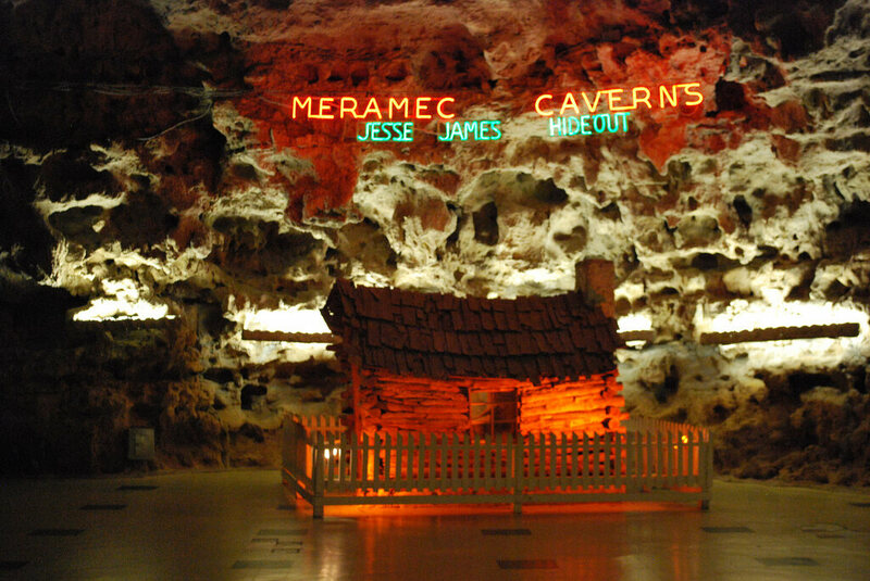 Meramec Caverns, yet another Missouri cave that claims to have hosted Jesse James.