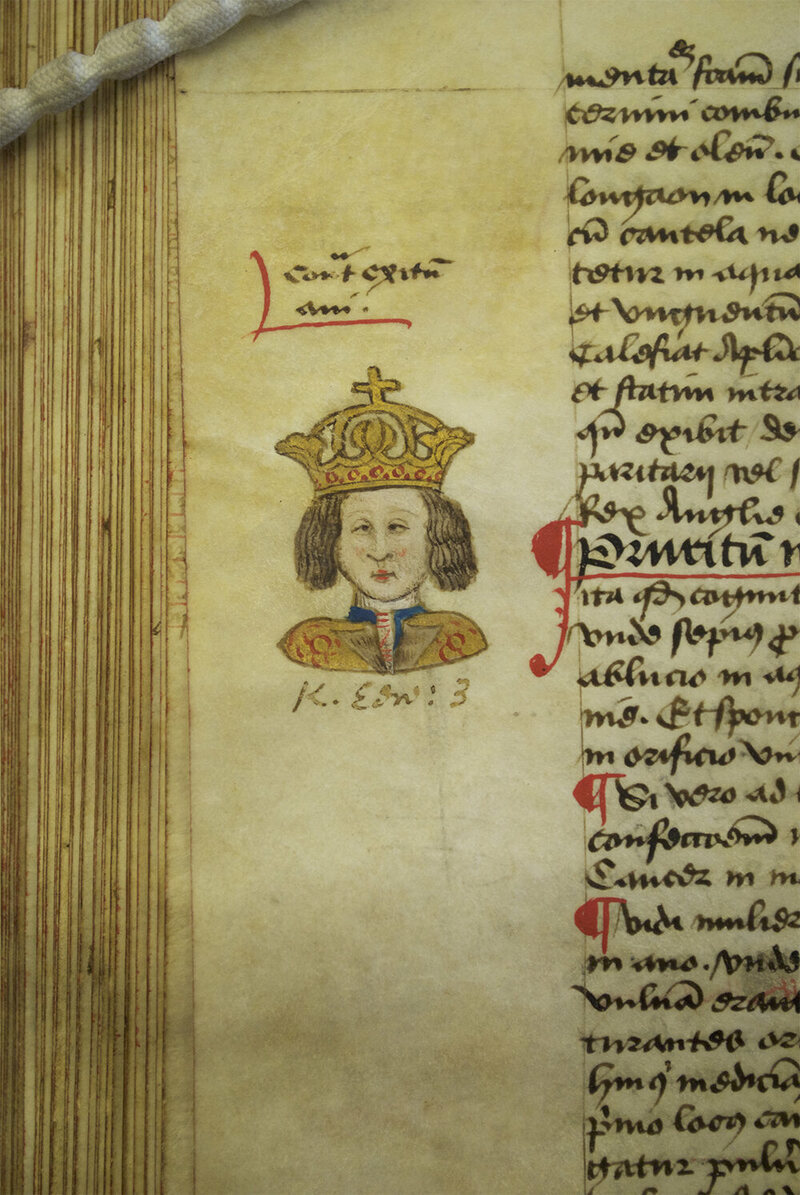 A portrait of King Edward III from Arderne's treatise.
