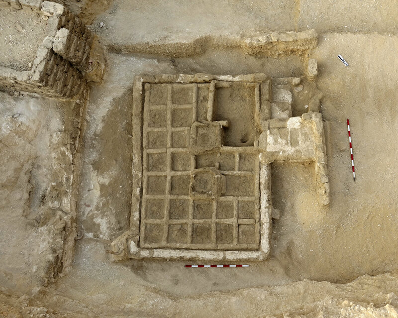 An orderly Egyptian funeral garden, the first ever found.