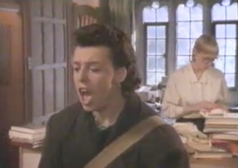 "Libraries have long played an important role in rock 'n' roll consciousness, as in the Tears for Fears video for ""Head Over Heels."""