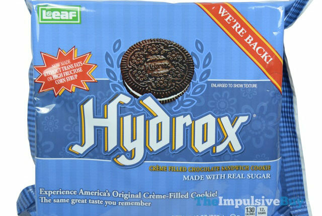 "A packet of Hydrox cookies: ""Experience America's Original Creme-Filled Cookie!"""
