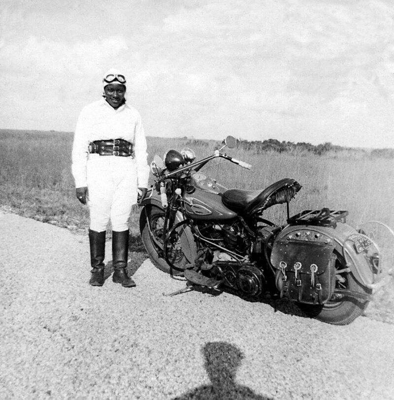 Stringfield rode across the U.S. eight times in the 1940s.