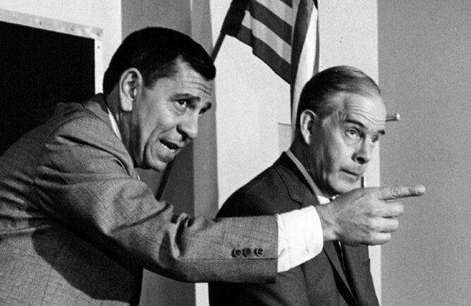 Jack Webb and Harry Morgan in Dragnet.