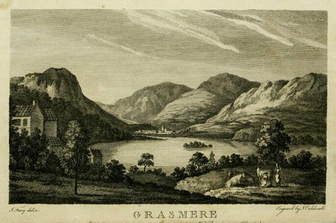 The frontispiece to Thomas West's 1778 book <em>Guide to the Lakes</em>.