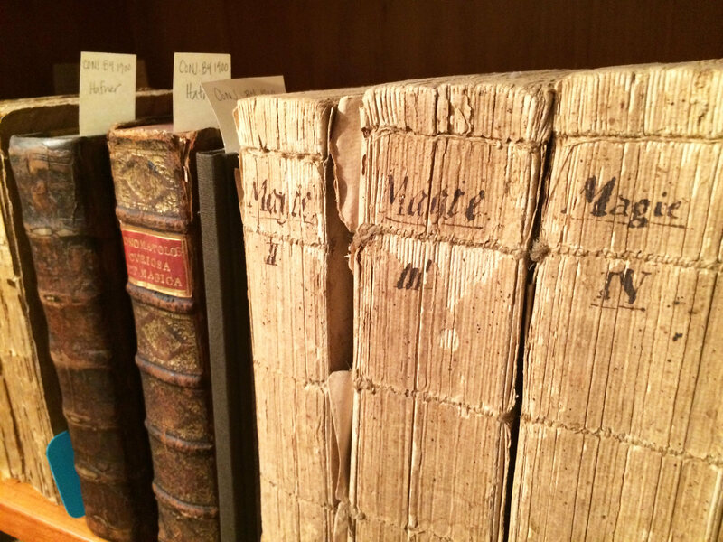 The Conjuring Arts Research Center has a vast collection of books, including rare and antique books about magic.