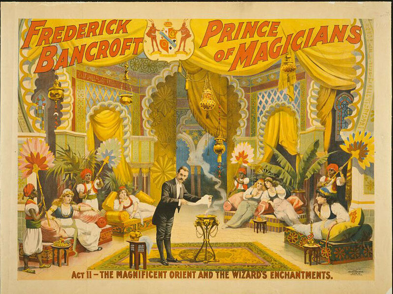 "A poster for ""Frederick Bancroft, Prince of Magicians,"" 1895."