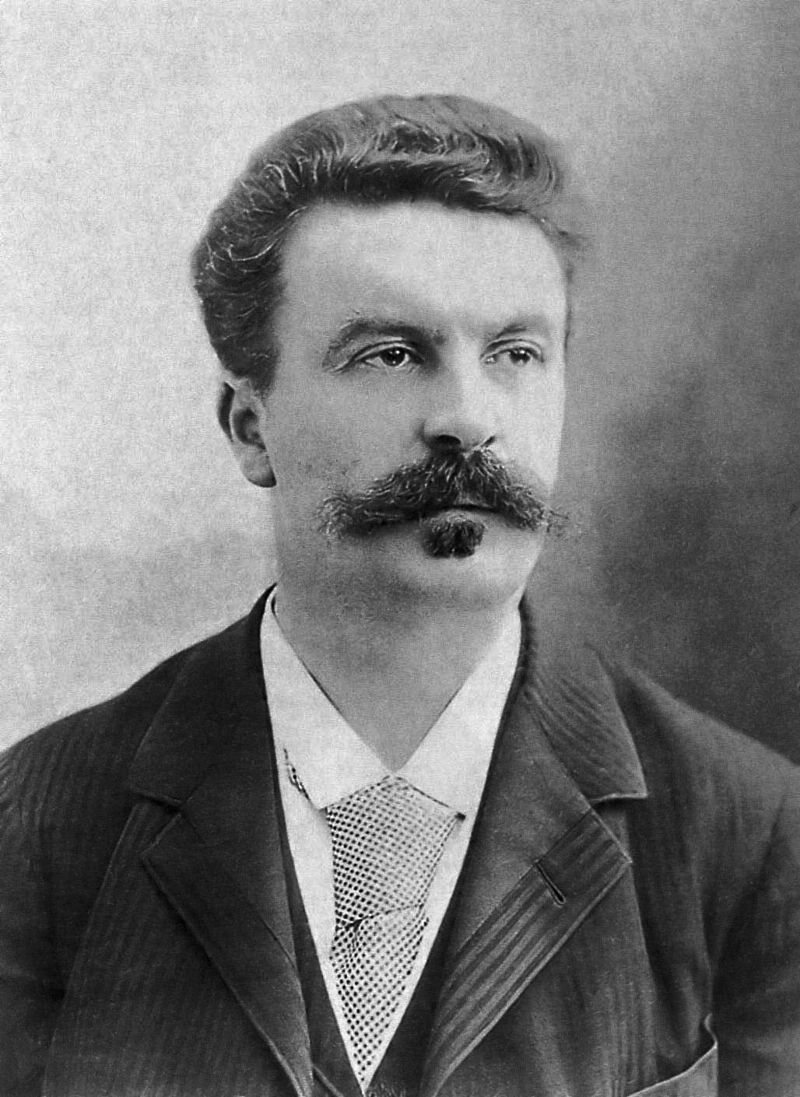"""""""A lip without a mustache is like a body without clothing"""", wrote Guy de Maupassant, pictured here in 1888, who evidently took his own advice."""