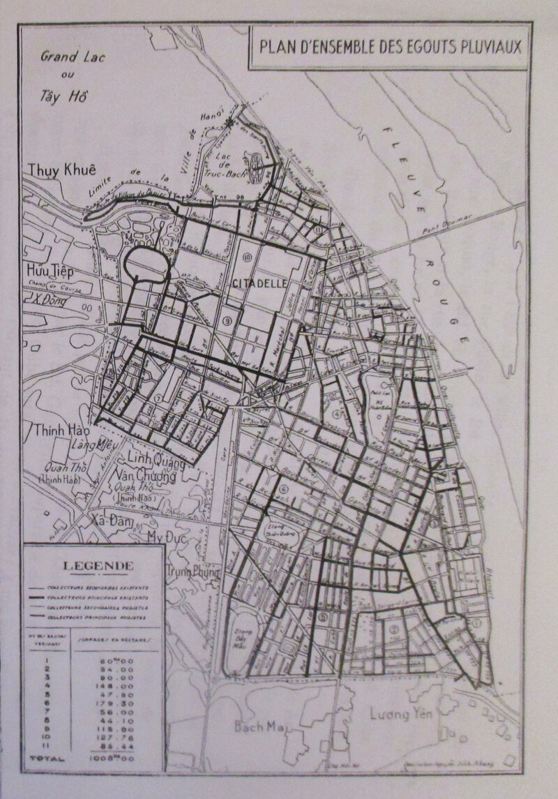 A Hanoi sewer map, 1939.