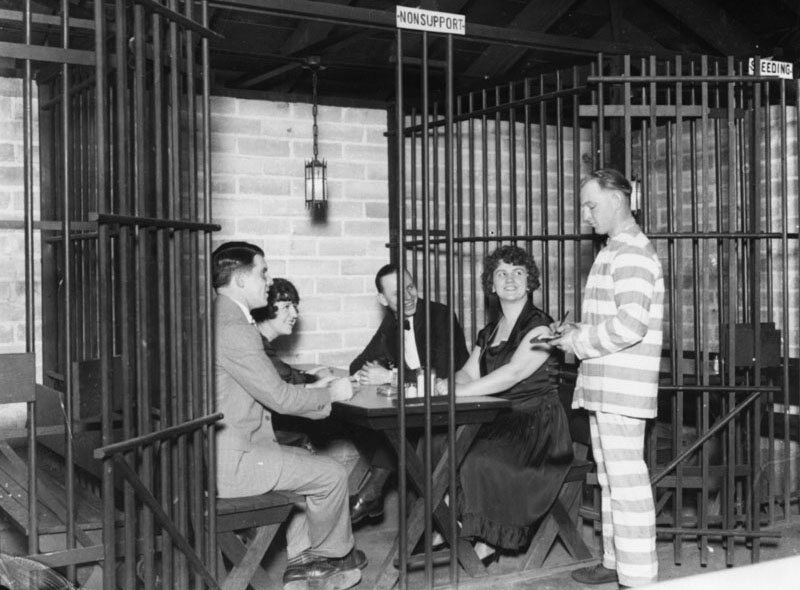 The Jail Café in Los Angeles, 1920.