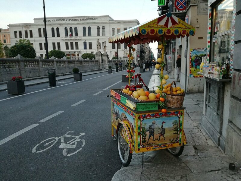 A citrus stand in modern-day Palermo.