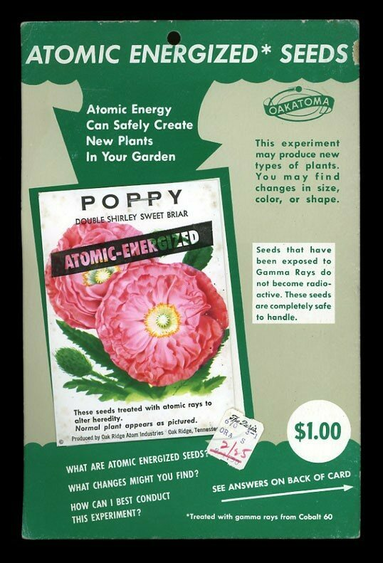 """A packet of """"Atomic Energized Seeds"""" which have been treated with gamma rays."""