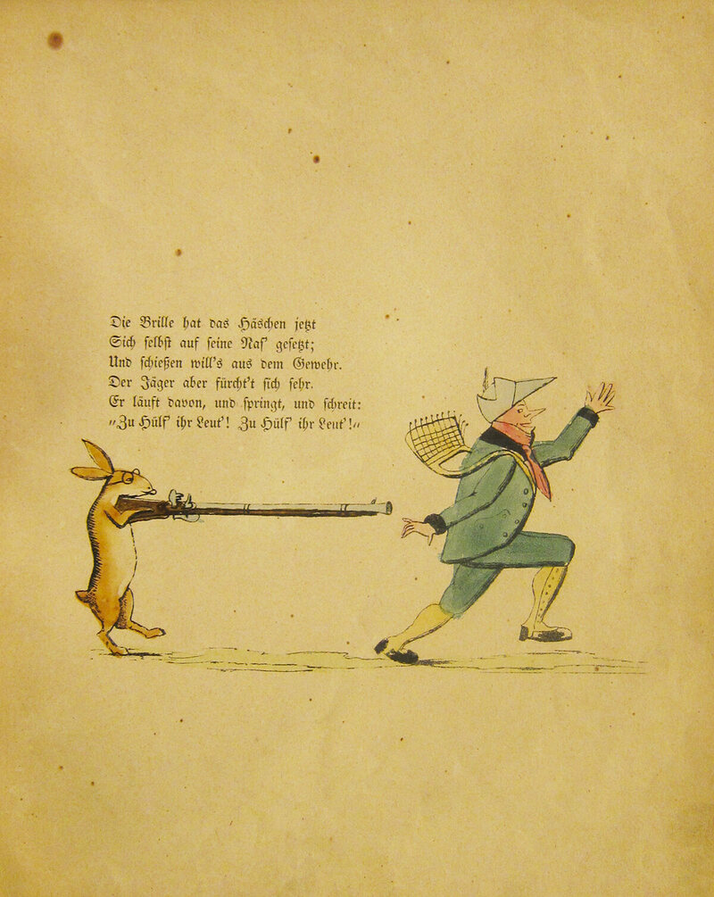 In a reversal, the hare gets the gun!