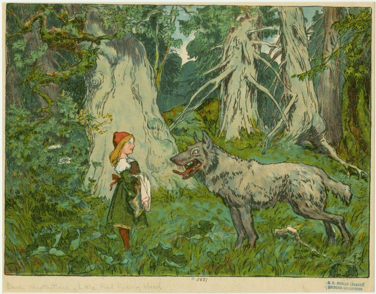 An early-20th-century illustration of one of the Grimms' most famous tales.