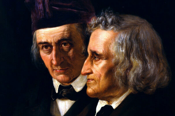 An 1855 portrait of the Brothers Grimm.