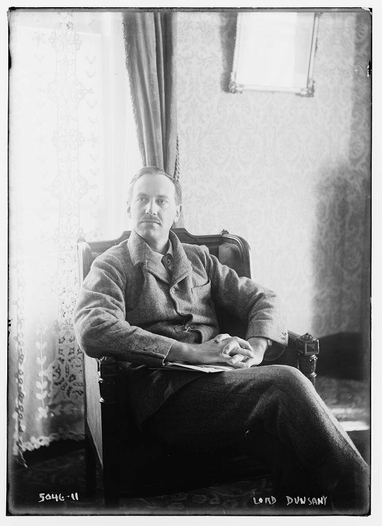 Lord Dunsany, author of the 1915 version of <em>The Tortoise and the Hare</em> which involved a forest fire.