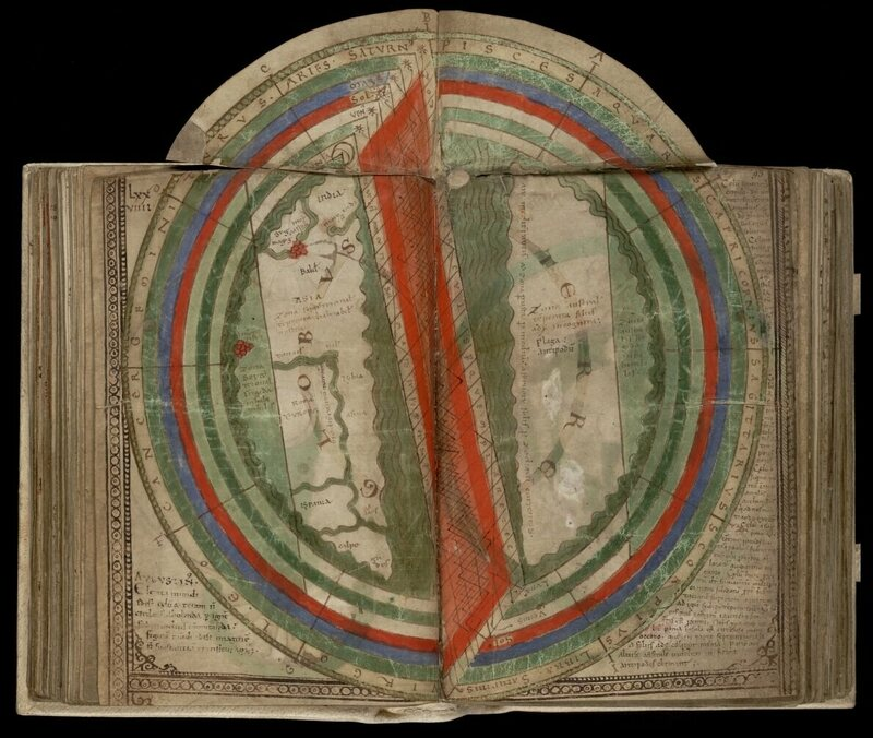 The movable page of <em>Liber Floridus</em> from 1121.