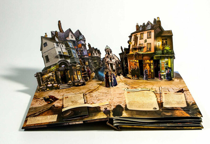 <em>Harry Potter: A Pop-Up Book</em>, with paper engineering by Bruce Foster.