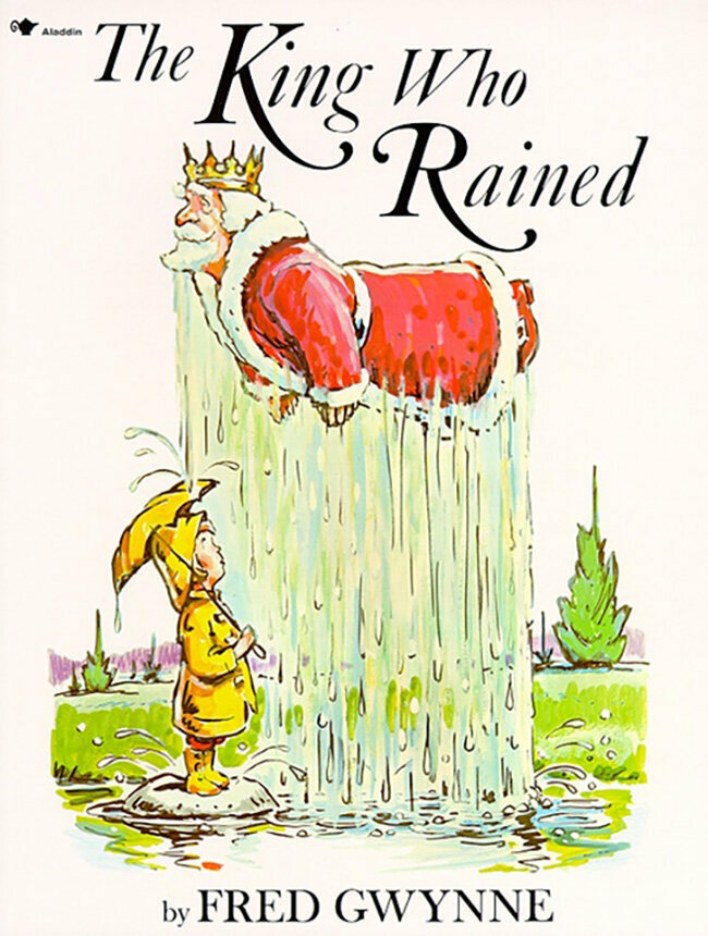 The cover for <em>The King Who Rained</em> (1970).