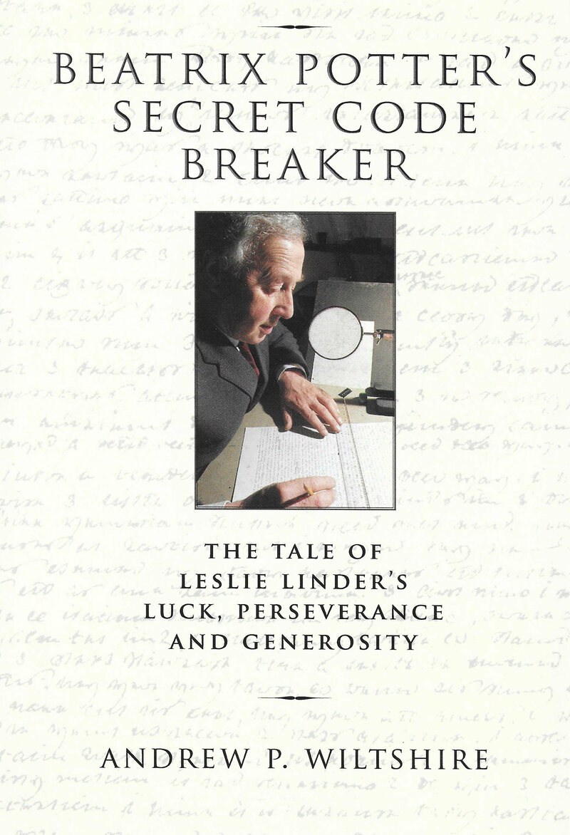 Leslie Linder working on a code, on the cover of Wiltshire's book.
