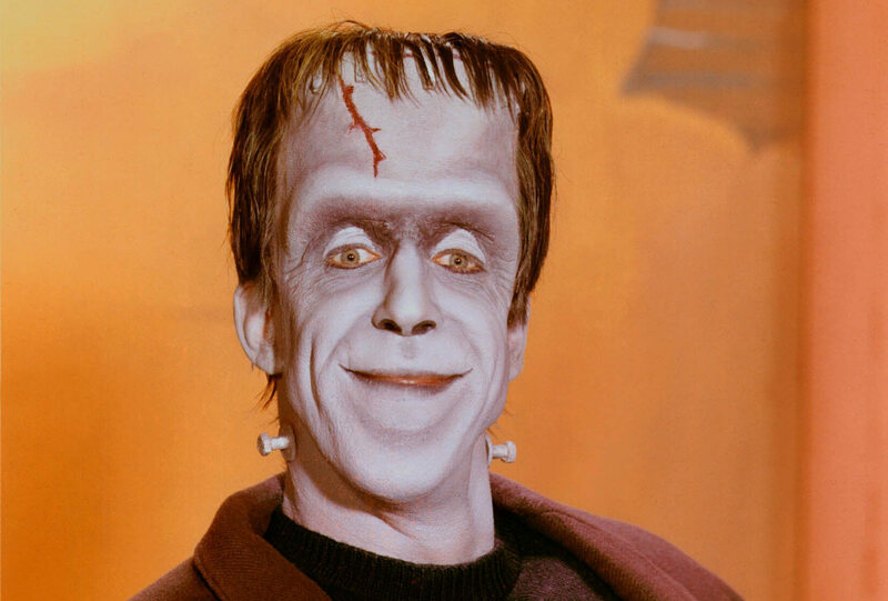 Fred Gwynne in character as Herman in <em>The Munsters</em>.