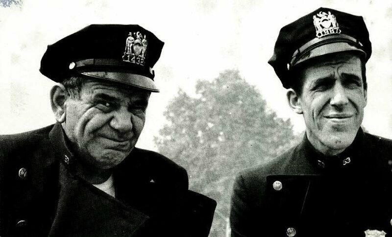 Fred Gwynne with Joe E. Ross in <em>Car 54, Where Are You?</em>, early 1960s.