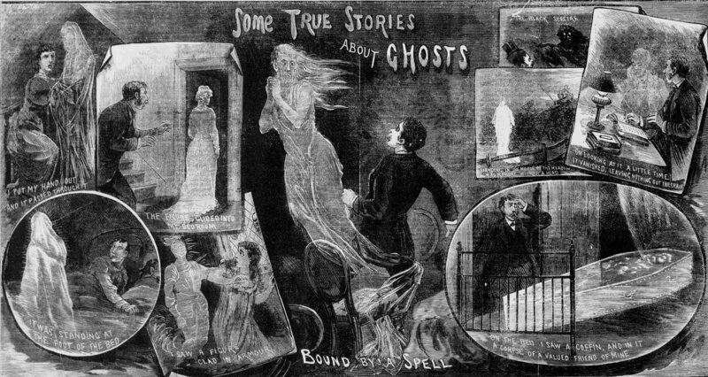 """""""Some true stories about ghosts"""" from the <em>Illustrated Police News</em>, October 29, 1881."""
