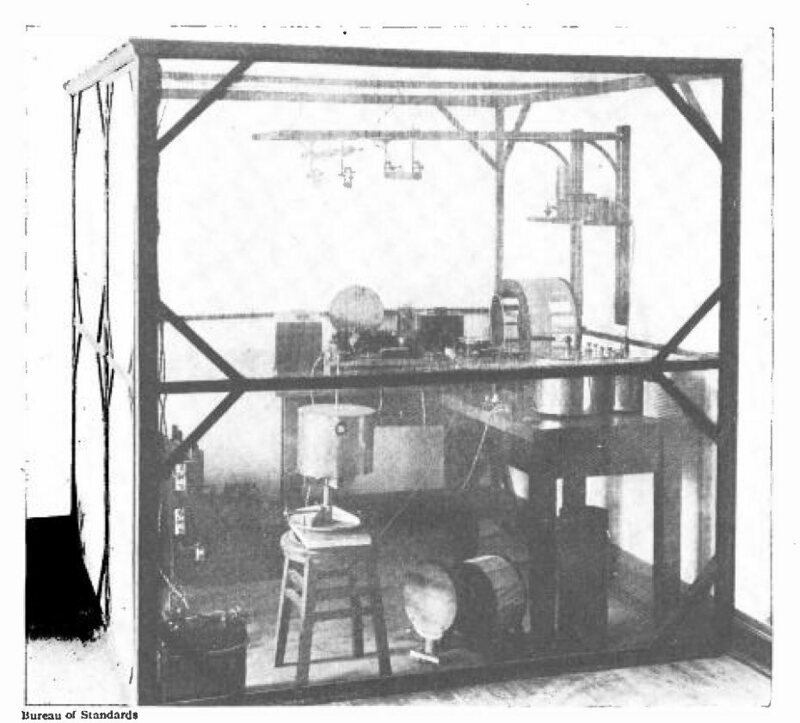 A 1920s Faraday cage.