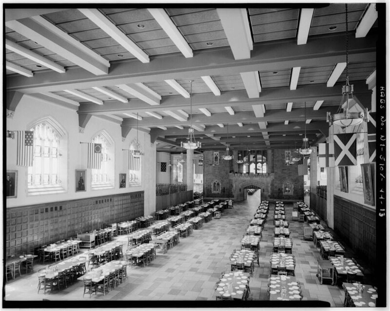 Interior view of the 1960s addition to the Mess Hall.