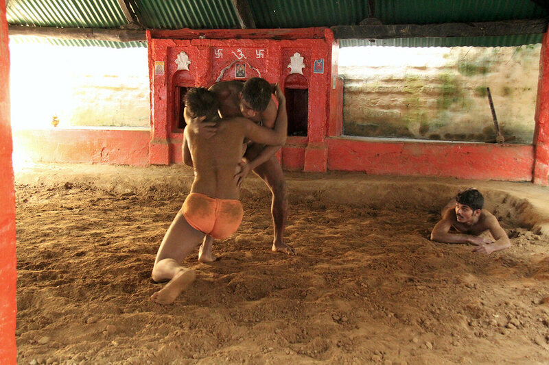 The trainee pehlwans at Tulsi Akhada go through several rounds of wrestling every day.