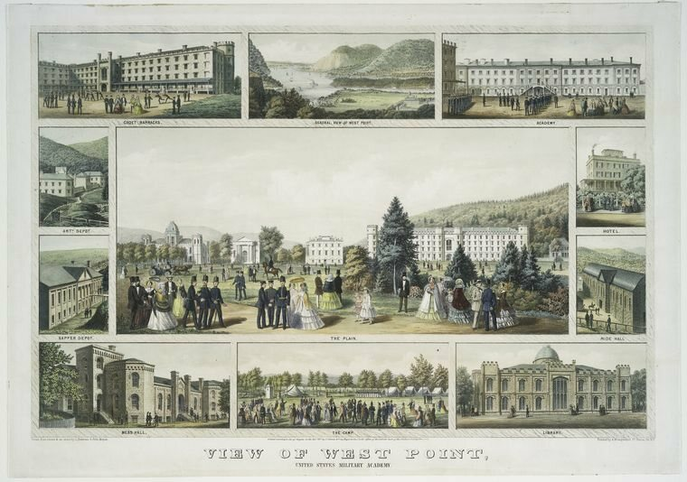 Views of West Point Academy from 1857.