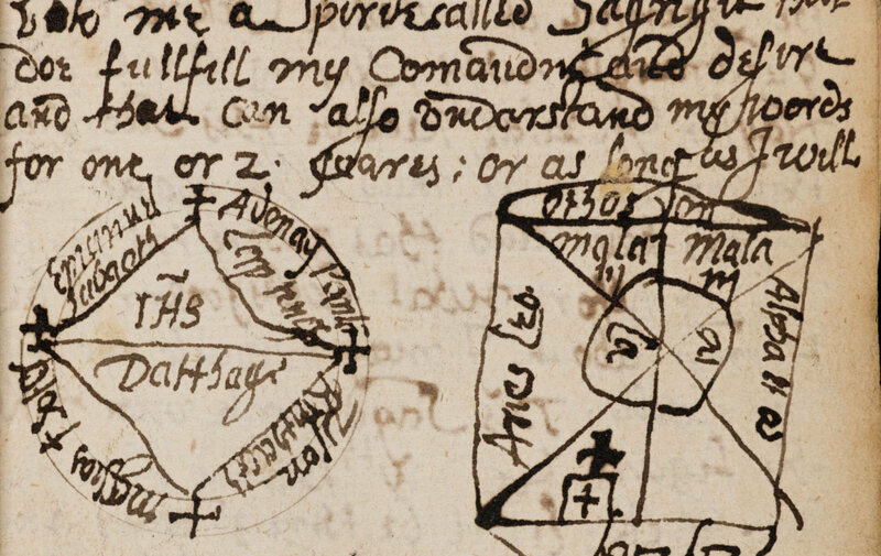A detail from <em>The Book of Magical Charms</em>, one of the manuscripts the Newberry Library is seeking to transcribe.