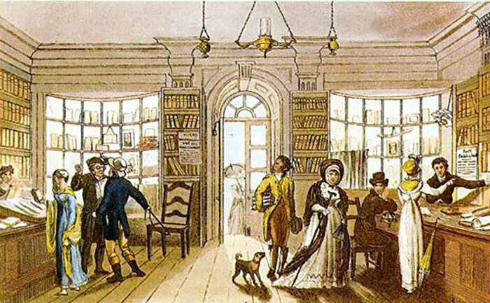 A circulating library in 1818.