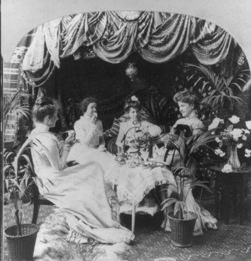 An afternoon tea, 1901.